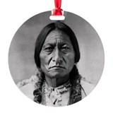 Sitting bull Round Ornament