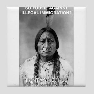 illegal immigration Tile Coaster