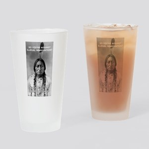 illegal immigration Drinking Glass