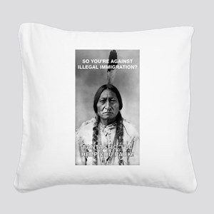 illegal immigration Square Canvas Pillow