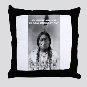 illegal immigration Throw Pillow
