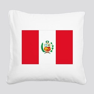 Peru Square Canvas Pillow