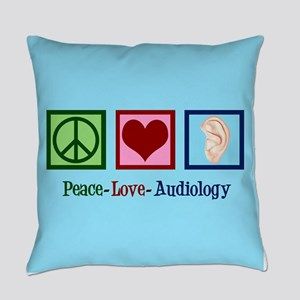 Audiologist Peace Love Everyday Pillow