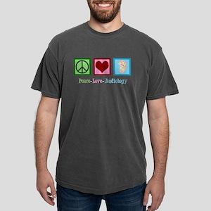 Audiologist Peace Love Mens Comfort Colors Shirt