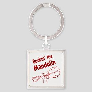 ROCKIN MANDOLIN Square Keychain