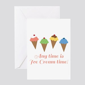 Ice Cream Time Greeting Cards