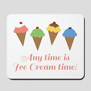 Ice Cream Time Mousepad