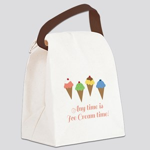Ice Cream Time Canvas Lunch Bag