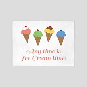 Ice Cream Time 5'x7'Area Rug