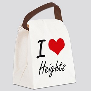I love Heights Canvas Lunch Bag