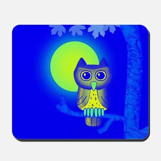 Blue Owl Mousepad
