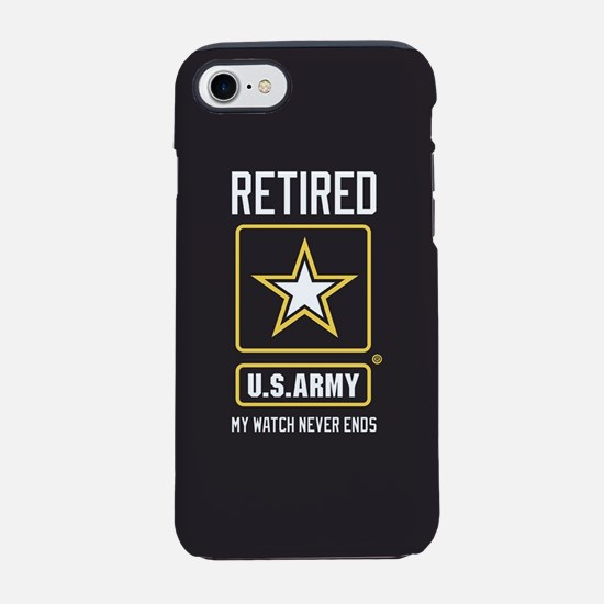 US Army Watch Never Ends iPhone 8/7 Tough Case
