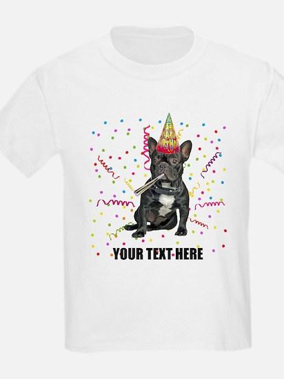 Custom French Bulldog Birthday T-Shirt