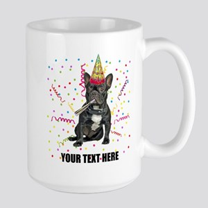 Custom French Bulldog Birthday Large Mug