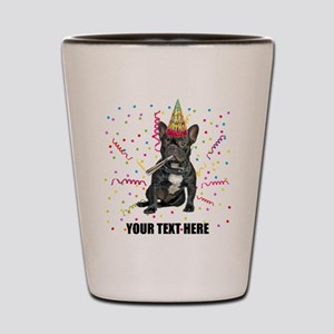 Custom French Bulldog Birthday Shot Glass