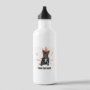 Custom French Bulldog Stainless Water Bottle 1.0L