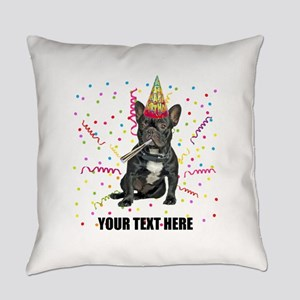 Custom French Bulldog Birthday Everyday Pillow