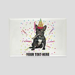 Custom French Bulldog Birthday Rectangle Magnet
