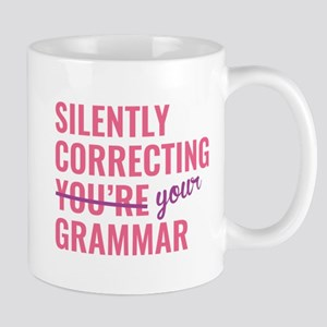 Silently Correcting You're Grammar Large Mugs