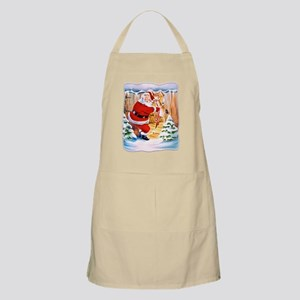 Santa Claus brings his reindeers Apron