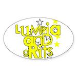 Lumpia & Grits Oval Sticker