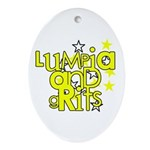Lumpia & Grits Oval Ornament