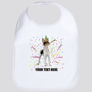 Custom Toy Fox Terrier Birthday Bib