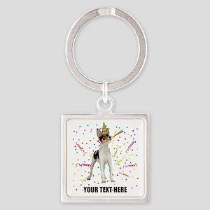 Custom Toy Fox Terrier Birthday Square Keychain