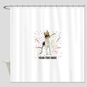 Custom Toy Fox Terrier Birthday Shower Curtain