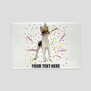 Custom Toy Fox Terrier Birthday Rectangle Magnet