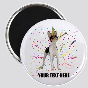 Custom Toy Fox Terrier Birthday Magnet