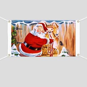 Santa Claus brings his reindeers Banner