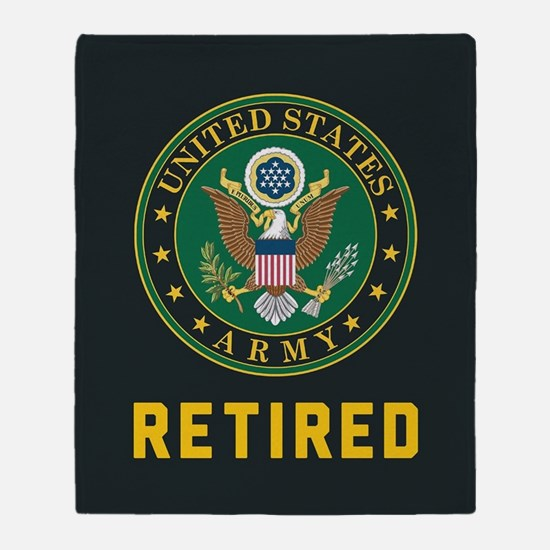 Army Retired Throw Blanket
