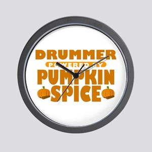 Drummer Powered by Pumpkin Spice Wall Clock