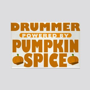 Drummer Powered by Pumpkin Spice Rectangle Magnet