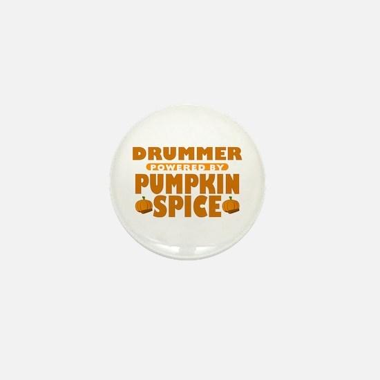 Drummer Powered by Pumpkin Spice Mini Button
