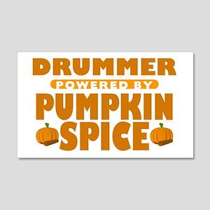 Drummer Powered by Pumpkin Spice 22x14 Wall Peel