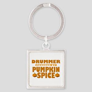 Drummer Powered by Pumpkin Spice Square Keychain