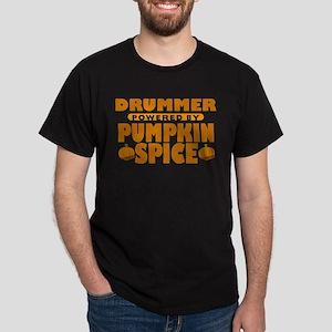 Drummer Powered by Pumpkin Spice Dark T-Shirt