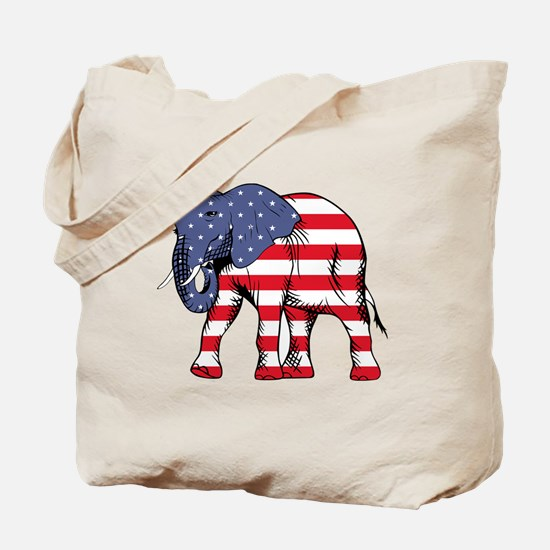 Red and white elephant Tote Bag