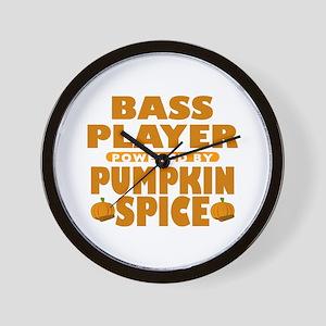 Bass Player Powered by Pumpkin Spice Wall Clock
