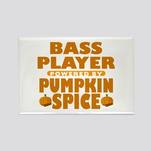 Bass Player Powered by Pumpkin Spice Rectangle Mag
