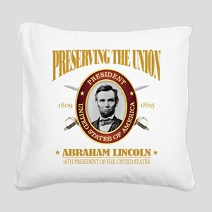 Lincoln (PTU) Square Canvas Pillow