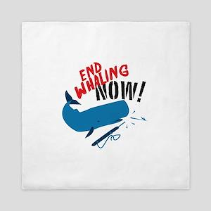 End Whaling Now Queen Duvet