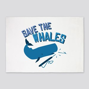 Save The Whales 5'x7'Area Rug
