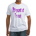 flip yourself off... Fitted T-Shirt