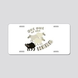 Out Of Herd Aluminum License Plate