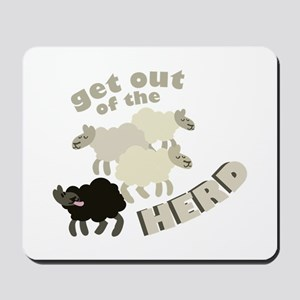 Out Of Herd Mousepad