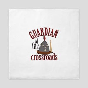 Guardian Of Crossroads Queen Duvet