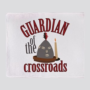 Guardian Of Crossroads Throw Blanket